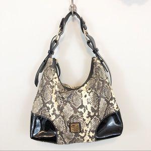 Dooney & Bourke snakeskin embossed leather purse